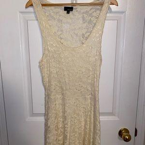 Cream lace dress from Aritzia